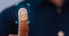 Businessmen Scan Fingerprints ...