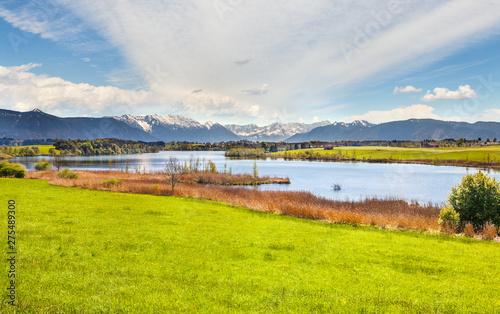 Aluminium Prints New Zealand Beautiful landscape of Bavaria in Germany
