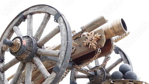 Reconstructed Bronze gun on...