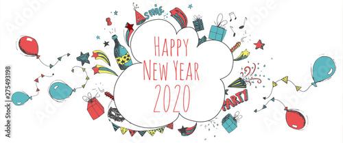 Fototapeta Happy new year 2020 obraz