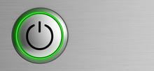 Button Power Start Symbol Technology Push