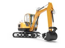 Orange Mini Crawler Excavator ...