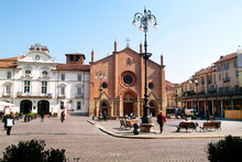 Asti, Piedmont, Italy St. Secondo Square With The City Hall And