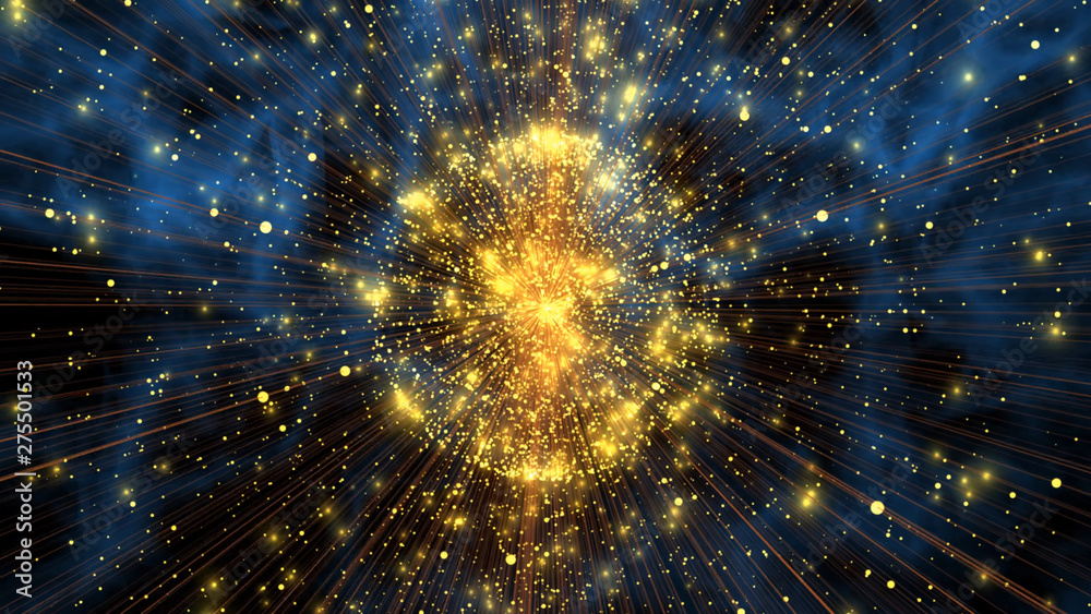 Fototapety, obrazy: abstract background with stars