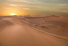 Sand Dessert Sunset Landscape ...