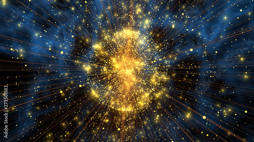 Obraz abstract background with stars - fototapety do salonu