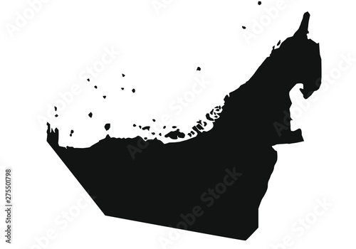 Photographie political map of country of united arab emirates