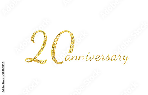Photo  20 anniversary logo concept