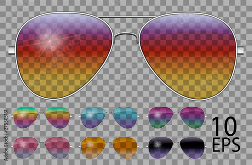 Canvas Print Set glasses