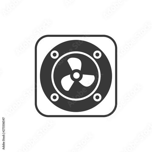 Valokuvatapetti Exhaust fan icon template black color editable