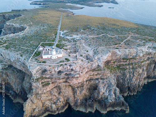 Faro de la Cavallería en lo alto de un acantilado (Menorca) Canvas Print