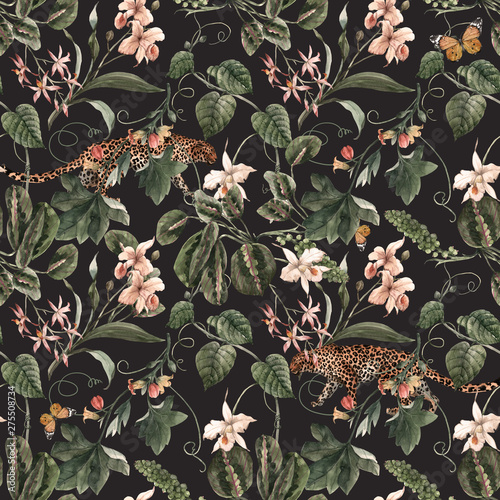 Tapety Vintage  akwarela-tropikalny-wzor