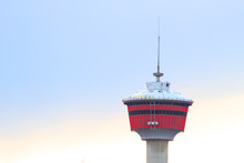 Top Of Calgary Tower On A Blue Sky