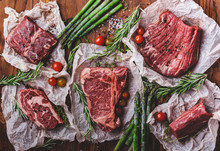 Raw Meat. Different Kinds Of B...