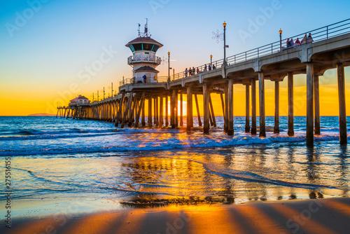 Fotografía Huntington Beach Pier At Sunset