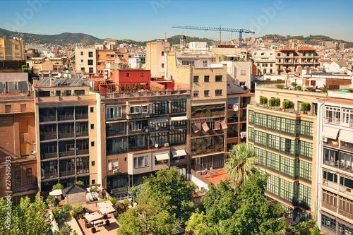 Foto auf AluDibond Barcelona Residential area in the center of Barcelona, urban background