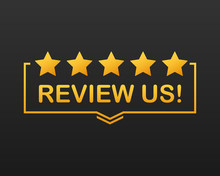 Review Us. User Rating Concept...