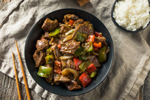 Homemade Chinese Pepper Steak