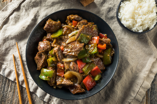 Slika na platnu Homemade Chinese Pepper Steak