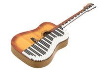 Music Duet Concept. Acoustic G...