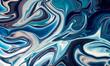 Blue liquid fluid abstract marble texture