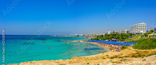 beautiful view of Pantachou beach in Ayia Napa, Cyprus