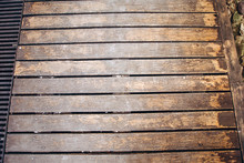 Background And Texture Of Decorarive Redwood Striped On Wall. Big Old Wood Plank Wallbackground