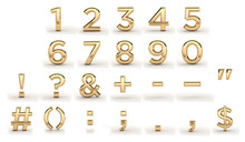 Golden Font, All Numbers And P...