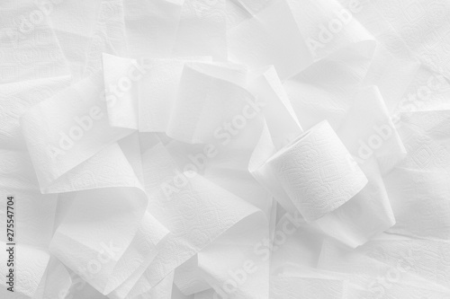 Türaufkleber Metall Toilet paper pattern for proctology design on white background top view
