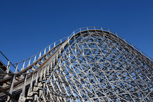 Wood Construction Of Historic Rollercoaster