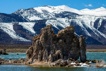 Large Tufa Formation At Mono Lake California Near Yosemite