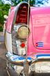 Classic American Car in the City of Havana Cuba.