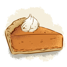 Pumpkin Pie Vector Illustration