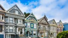 Row Of Beautiful Victorian Homes - San Francisco, CA