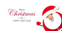 Święty Mikołaj. Boże Narodzenie. Kartka Z życzeniami Wektor