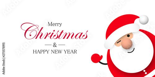 Fotografie, Obraz Święty Mikołaj. Boże narodzenie. Kartka z życzeniami wektor