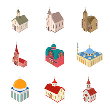 Vector Illustration Of Architecture And Building Logo. Collection Of Architecture And Clergy Stock Vector Illustration.
