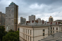 View Of The Roofs Of Residential Buildings In Moscow's New Arbat Street
