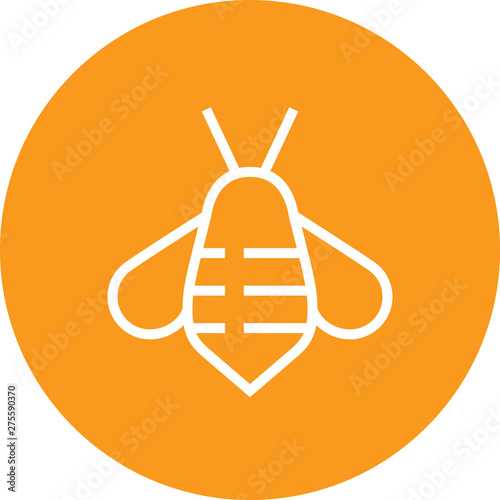 Honey Bee Insect Outline Icon Canvas Print