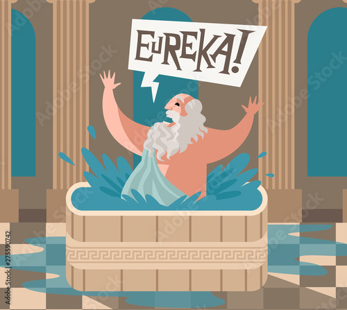 Cuadros en Lienzo archimedes of syracusa ancient genius mathematician inventor saying eureka in th