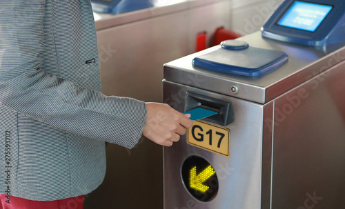 Photo Electronic pass for Bangkok Mass Transit System