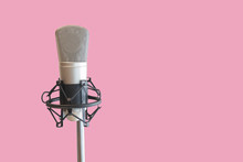 Condenser Mic With Pink Backgr...