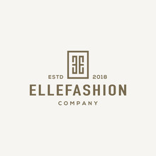 Monogram E Logo Design Concept.
