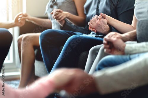 Group therapy, peer support and psychology session Fototapete