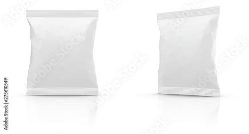 Fotomural Realistic Blank Mock-up Bag isolated on white background