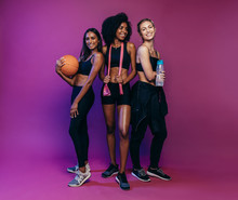 Women In Sportswear At Fitness Studio