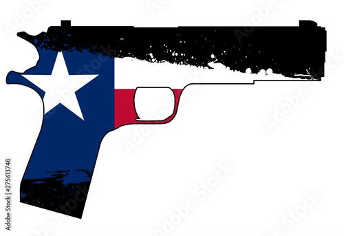 Fényképezés  45 Automatic With Texan Flag