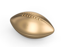 Gold American Football Ball On...