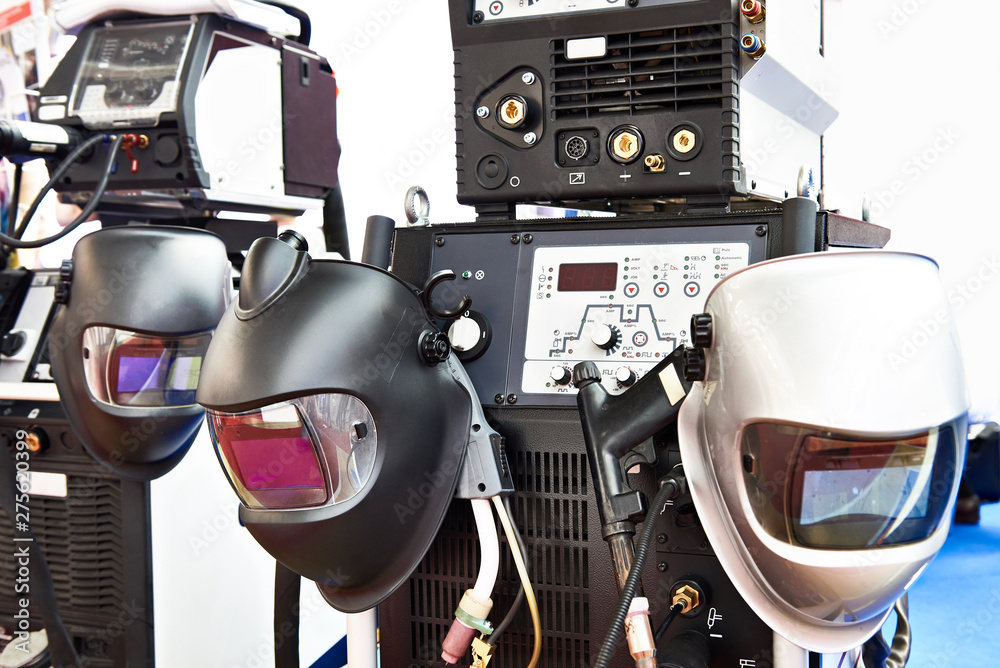 Fototapety, obrazy: Devices for welding and protective masks