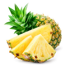 Pineapple Slices And Whole Pin...
